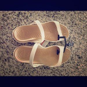 White CROCS sandals